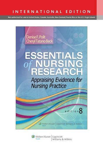 9781451176803: Essentials of Nursing Research: Appraising Evidence for Nursing Practice