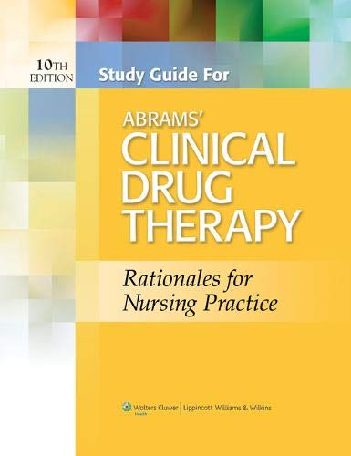 9781451182385: Study Guide for Abrams' Clinical Drug Therapy