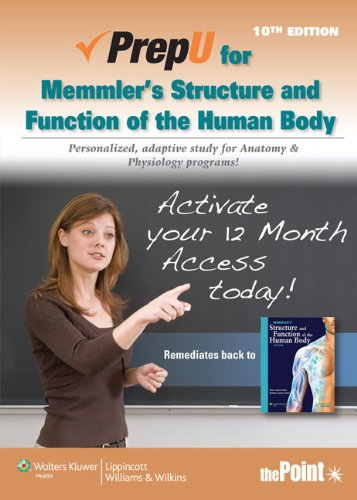 9781451183863: PrepU for Cohen's Memmler's Structure and Function of the Human Body