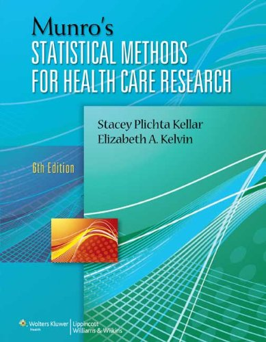 9781451187946: Munro's Statistical Methods for Health Care Research