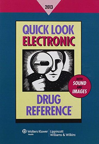 Quick Look Electronic Drug Reference 2013: Lance, Leonard