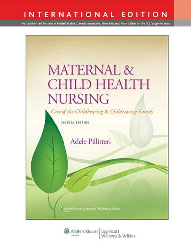 9781451188967: Maternal and Child Health Nursing