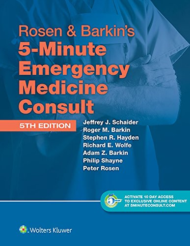 9781451190670: Rosen & Barkin's 5-Minute Emergency Medicine Consult Standard Edition: 10-day Enhanced Online Access + Print (The 5-Minute Consult Series)