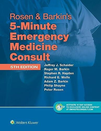 9781451190670: Rosen & Barkin's 5-Minute Emergency Medicine Consult