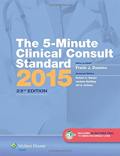 9781451192148: The 5-Minute Clinical Consult Standard 2015: 30-Day Enhanced Online Access + Print (The 5-Minute Consult Series)