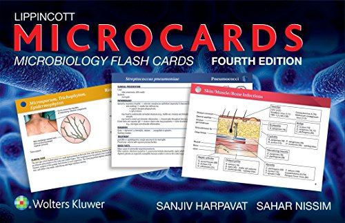Lippincott Microcards: Microbiology Flash Cards (4th Revised edition): Sanjiv Harpavat, Sahar ...