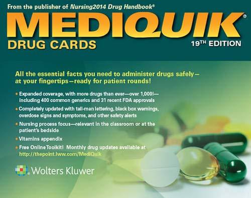 9781451192971: MediQuik Drug Cards