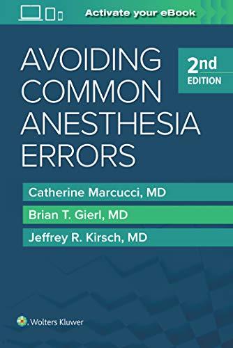 9781451195194: Avoiding Common Anesthesia Errors