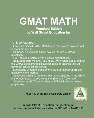 9781451521047: GMAT Math Premium Edition