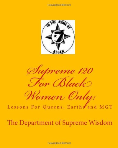 9781451538380: Supreme 120 For Black Women Only:: Lessons For Queens, Earths and MGT