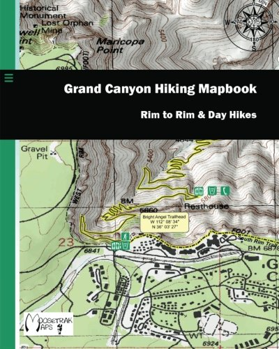 9781451580365: Grand Canyon Hiking Mapbook: Rim to Rim and Day Hikes