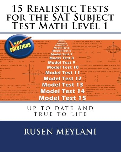 9781451581270: 15 Realistic Tests for the SAT Subject Test Math Level 1: Up to date and true to life