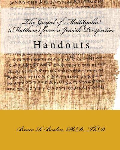 9781451586893: The Gospel of Mattityahu (Matthew) from a Jewish Perspective: Handouts