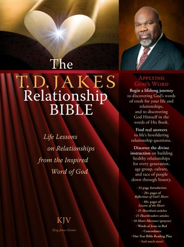 The T.D. Jakes Relationship Bible Deluxe Retail Edition (leatherette book in a Box): Life Lessons on Relationships from the Inspired Word of God (1451667817) by T.D. Jakes