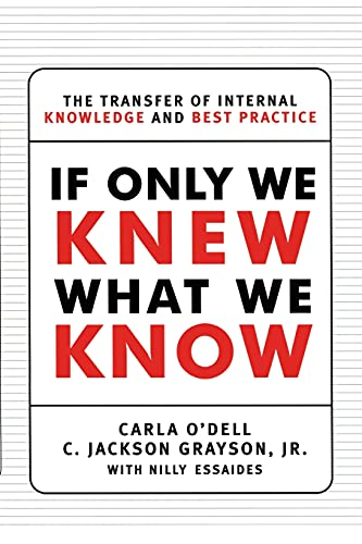 9781451697575: If Only We Knew What We Know: The Transfer of Internal Knowledge and Best Practice
