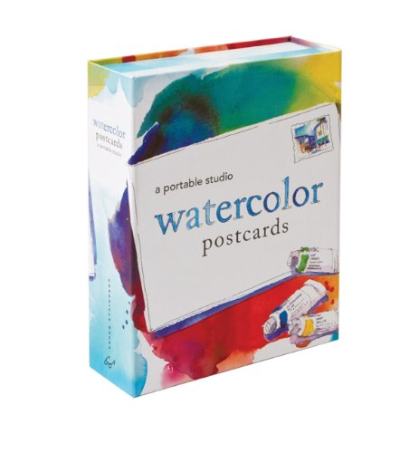 9781452101385: Watercolor Postcards: A Portable Studio [With 10 Postcards and Paint Brush and 4 Paint Tubes]