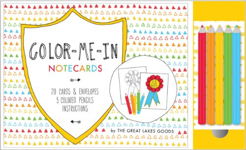 9781452102573: Color-Me-In Notecards