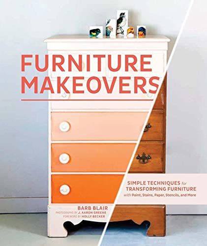 Furniture Makeovers: Simple Techniques for Transforming Furniture with Paint, Stains, Paper, Stencils, and More 9781452104157 Furniture Makeovers shows how to transform tired furniture into stunning showpieces. You'll never look at a hand-me-down dresser the sam