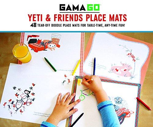 9781452111599: GAMAGO Yeti & Friends Place Mats