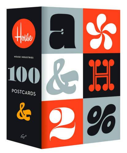 9781452112541: House Industries 100 Postcards