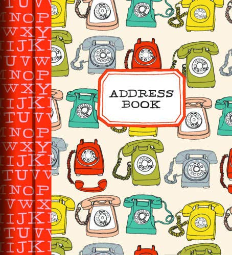Julia Rothman Analog Address Book (Address book) 9781452114187 Featuring tabbed section dividers illustrated with rotary phones, typewriters, and an A-Z of all things analog, this delightfully retro