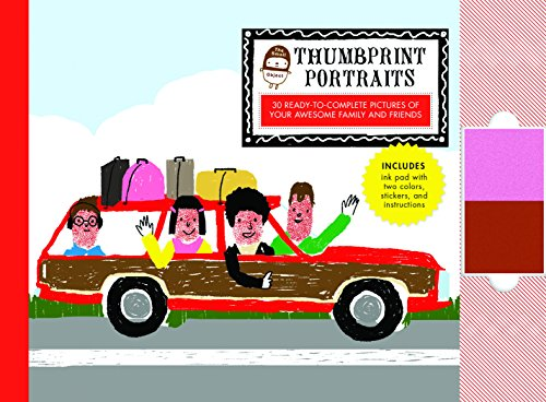 9781452117157: The Small Object Thumbprint Portraits: 30 Ready-to-Complete Pictures of Your Awesome Family and Friends