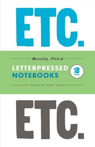 Briefly Noted: Two Letterpressed Notebooks (Chronicle Books Letterpress)