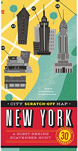 9781452139869: City Scratch-off Map: New York: A Sight-Seeing Scavenger Hunt