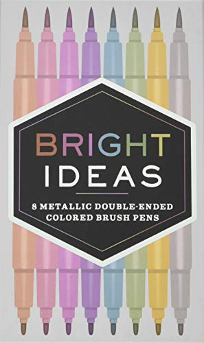 9781452163864: Bright Ideas Metallic Double-ended Colored Brush Pens: 8 Colored Pens