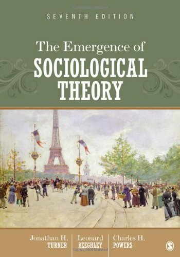9781452206233: The Emergence of Sociological Theory