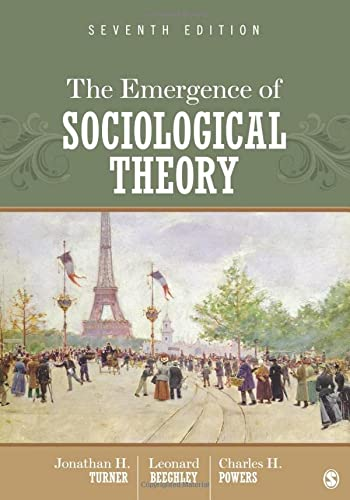9781452206240: The Emergence of Sociological Theory