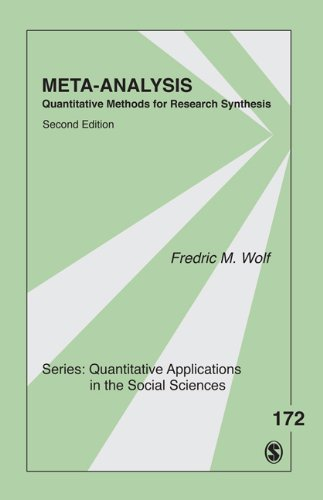 9781452226200: Meta-Analysis: Quantitative Methods for Research Synthesis (Quantitative Applications in the Social Sciences)