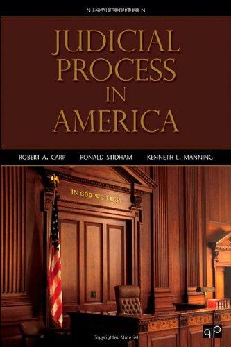 Judicial Process in America, 9th Edition: Carp, Robert A;