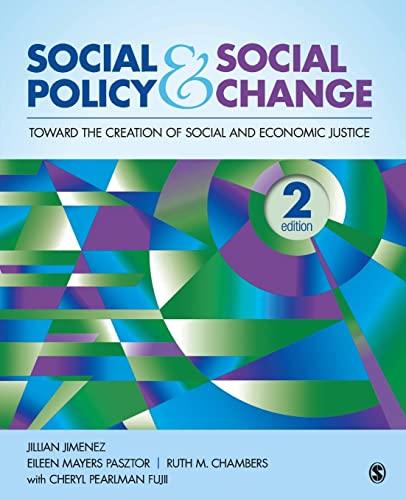 Social Policy and Social Change: Toward the: Jillian A. Jimenez,