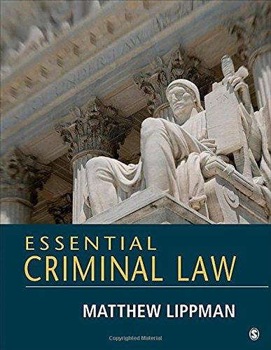 Essential Criminal Law (Paperback): Matthew Lippman