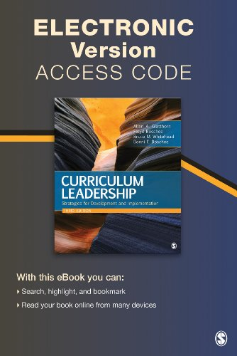 9781452292854: Curriculum Leadership Electronic Version: Strategies for Development and Implementation