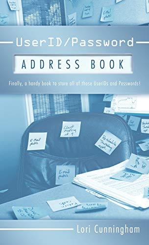 Userid/Password Address Book: Cunningham, Lori