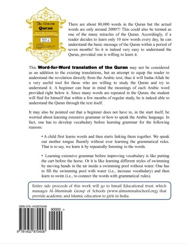 The Glorious Quran Word-for-Word Translation to facilitate: Shaikh M.D., Dr
