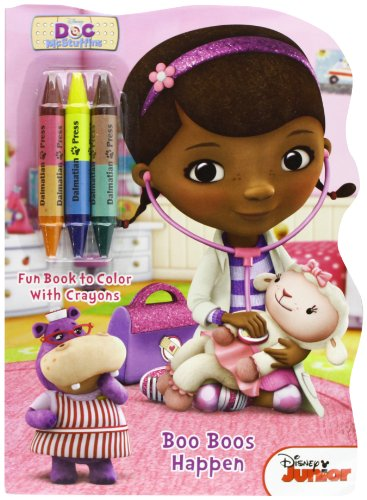 9781453048573: Doc McStuffins Boo Boos Happen: Shaped Book to Color with Crayons