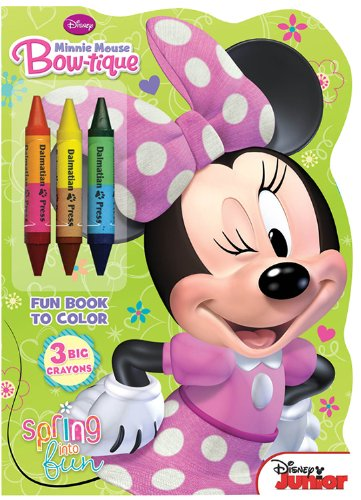 9781453048580: Minnie Mouse Bow-Tique: Spring Into Fun [With 3 Big Crayons] (Disney Junior)
