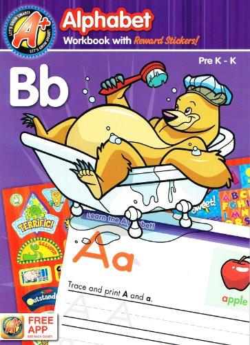 9781453055625: A+ Let's Grow Smart! (Alphabet Workbook with Reward Stickers! and Free App, Pre K - K)