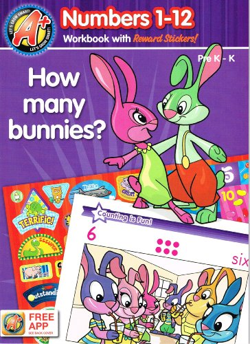 A+ Let's Grow Smart! (Numbers 1-12 Workbook with Reward Stickers! and Free App, Pre K - K) (2012-05-03) (1453055630) by LLC Dalmatian Press
