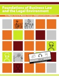 9781453343722: Foundations of Business Law and the Legal Environment