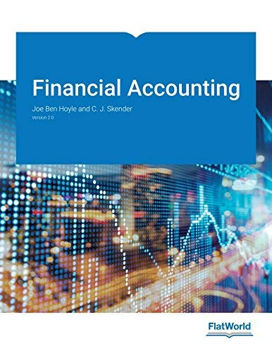 Financial Accounting, v. 2.0: Hoyle, Joe Ben;