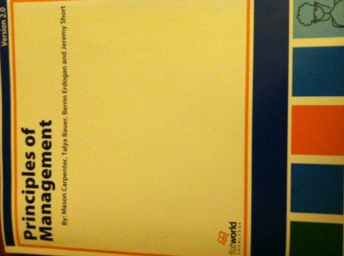 9781453354452: Principles of Management
