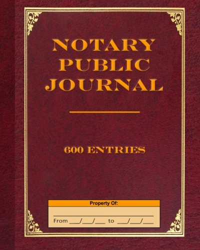 Notary Public Journal 600 Entries: Tropea, Angelo