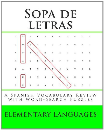 9781453736715: Sopa de letras: A Spanish Vocabulary Review with Word-Search Puzzles