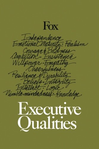 9781453788790: Executive Qualities