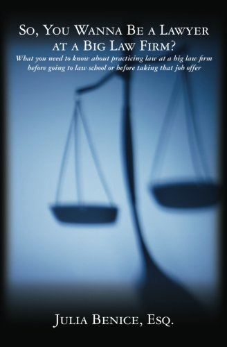 9781453824764: So, You Wanna Be a Lawyer at a Big Law Firm?: What you need to know about practicing law at a big law firm before going to law school or before taking that job offer