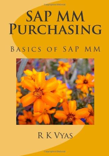 9781453844779: SAP MM Purchasing: Basics of SAP MM